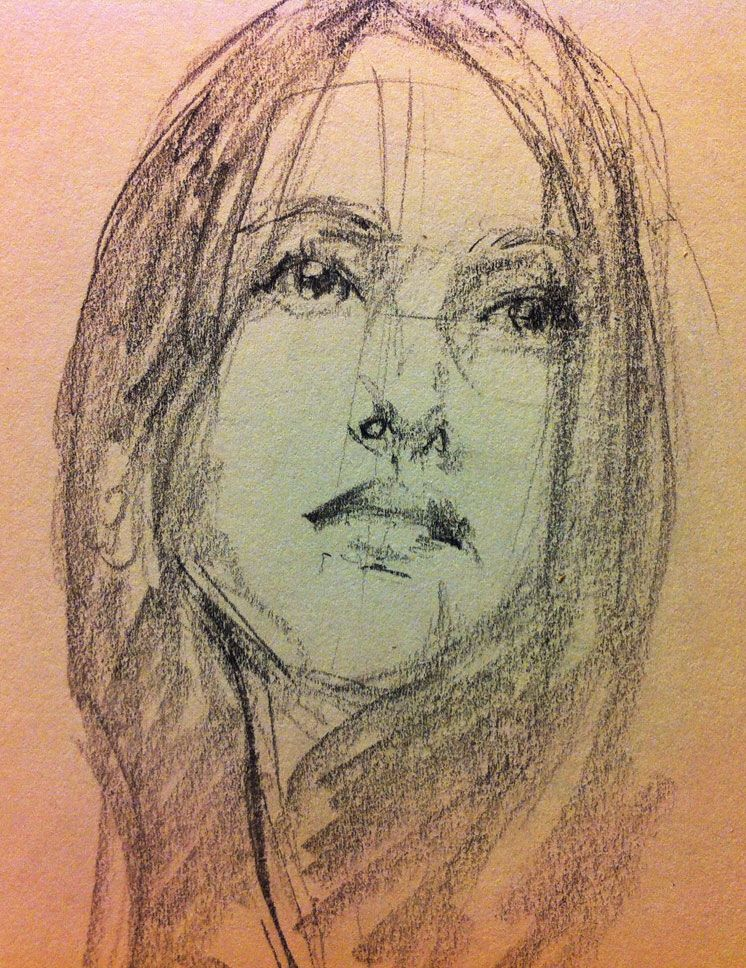 Solenn by Eric Pineda.  Graphite on oatmeal paper.  www.playkill.com