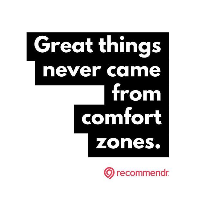 Reposting Recommendr App Fk Comfort Zones O Success Hustle Quote Entrepreneur Grind Quotes Quoteoftheday Business Entrepreneu