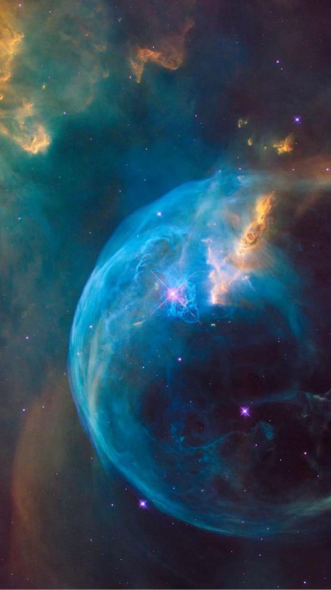 Hubble Supernova Bubble Explosion Iphone 6 Hd Wallpaper Nasa Hubble Space Telescope Nebula