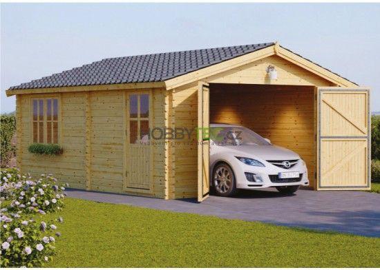 Drevena Garaz Sarin 4x6m Wooden Garage Wooden Carports Timber Garage