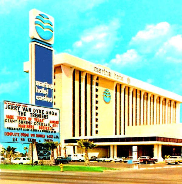 The Marina Hotel And Casino On The South End Of The Strip Circa