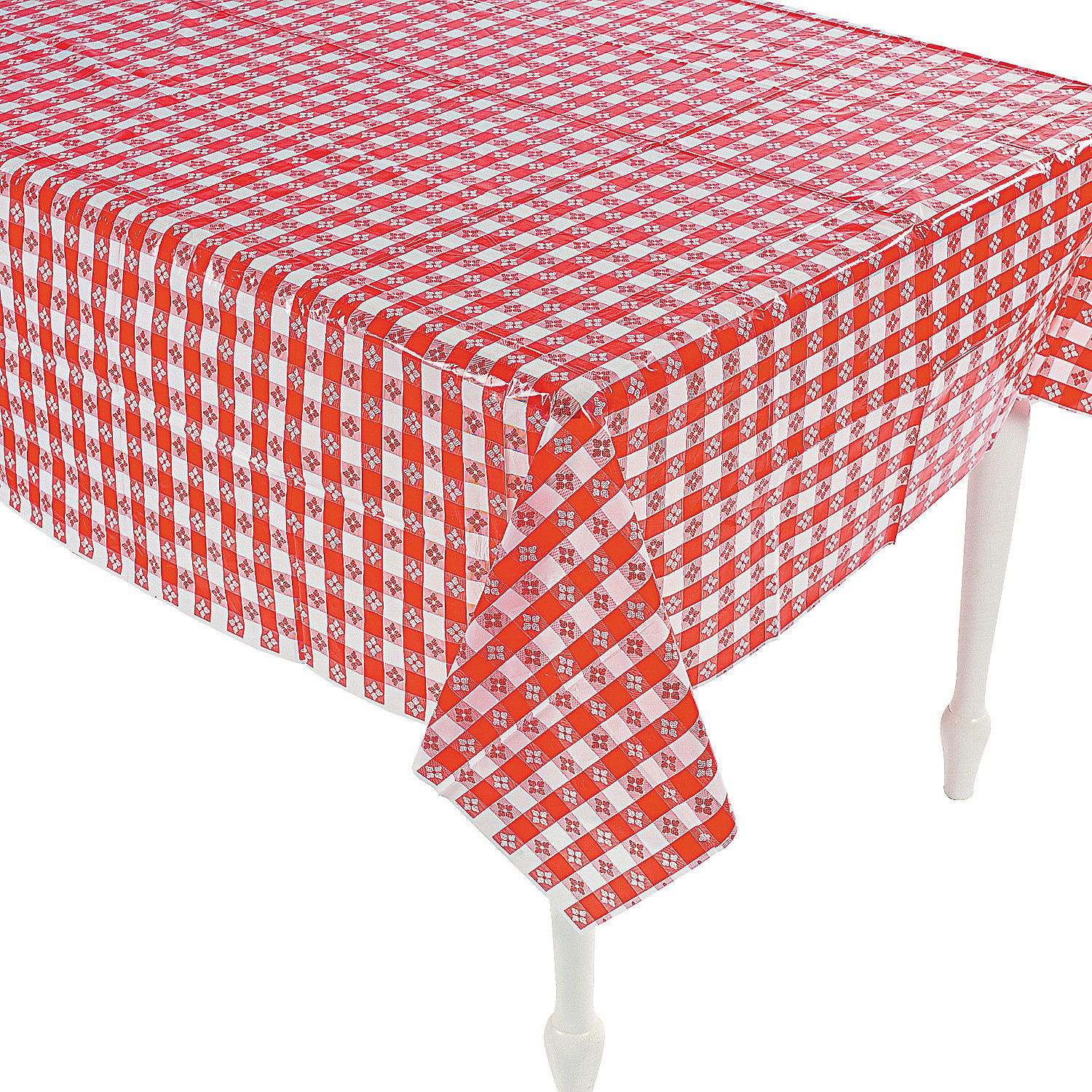 Red White Checkered Plastic Tablecloth Oriental Trading Checkered Tablecloth Picnic Table Covers White Table Cloth