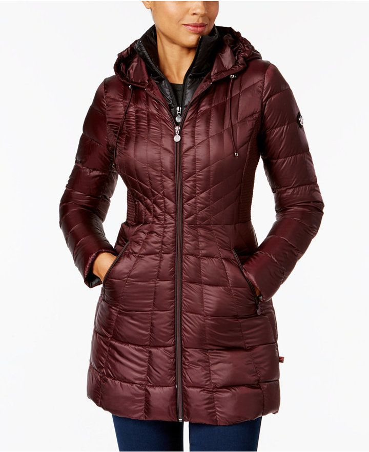 6a0a339dbf0 Bernardo Hooded Packable Puffer Coat | Products | Red puffer coat ...