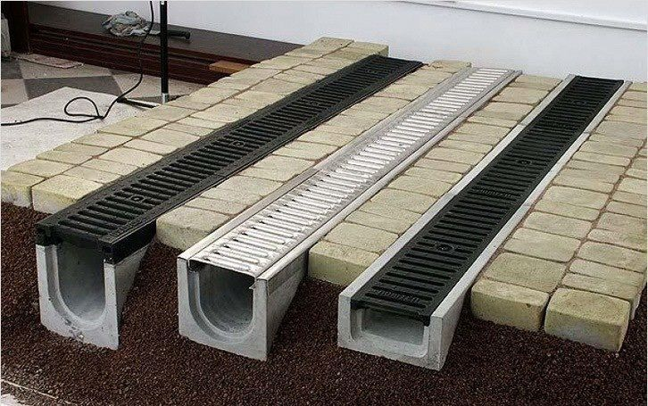 Precast Concrete Trench Drains With Removable Grating For Maintenance Yard Drainage Backyard Drainage Landscape Drainage