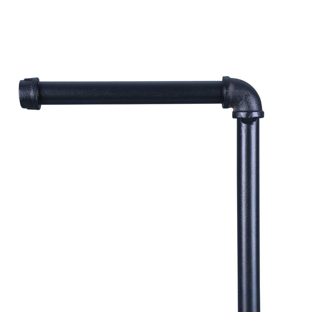 OROPY Porte Papier Toilette Sur Pied, Derouleur Papier Toilette en Design Industriel, Stockage de 4 rouleaux, pour Rangement Salle de Bain, Décor rustique rétro