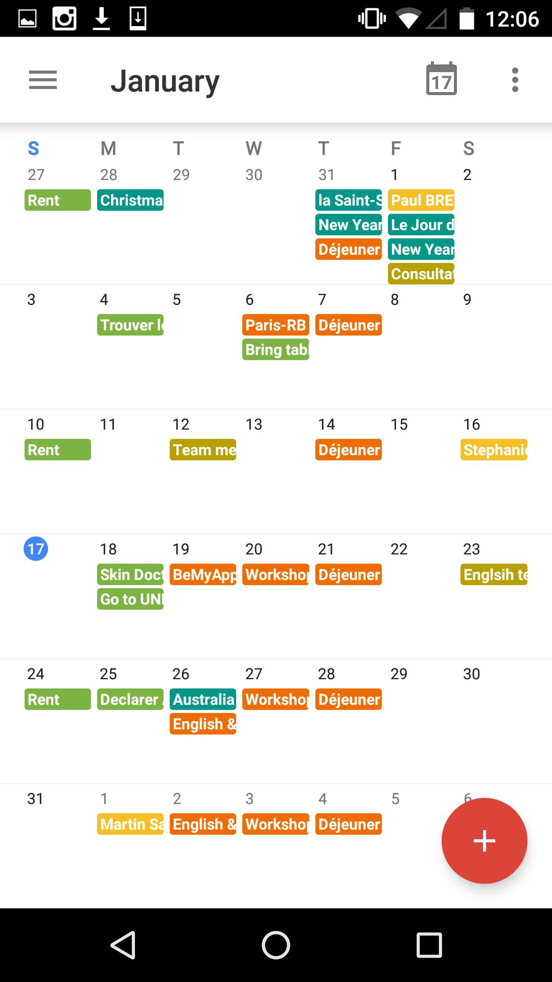 Monthly view 2 on Google Calendar #ui #inspiration #interface