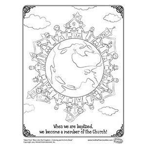 baptism coloring page free catholic coloring page