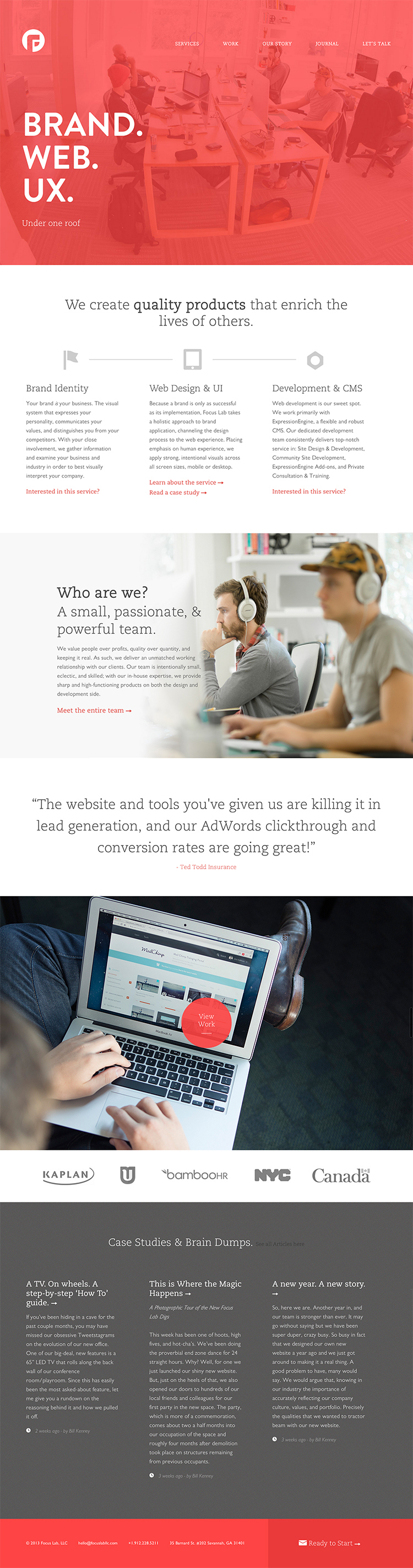 Focus Labs Http Www Fltdsgn Com Web Development Design Mobile Web Design Web Design