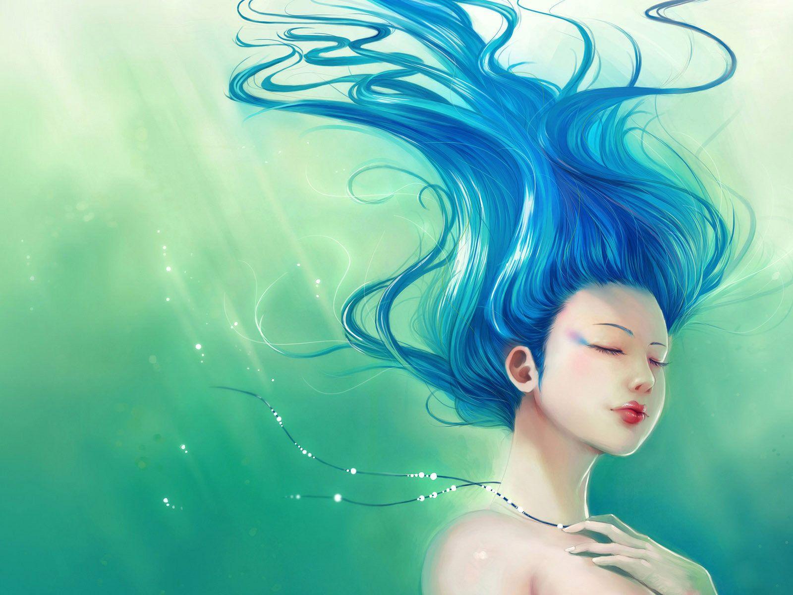 Image gallery mermaid hair - Mermaid Drawing