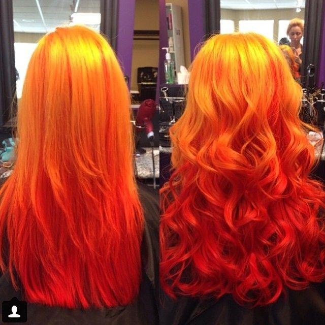 best big red ombre hair dye set haarfarben haar und bunte haare. Black Bedroom Furniture Sets. Home Design Ideas