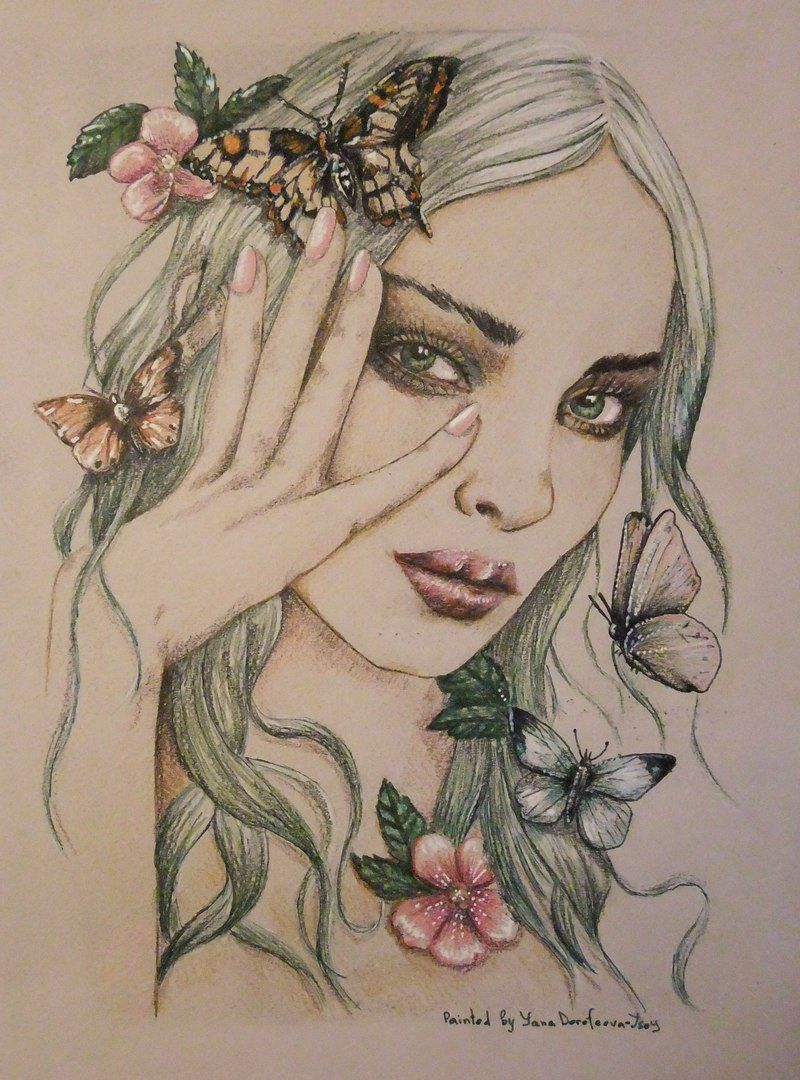 Раскраски | Зачарованный лес | Таинственный сад | Photo ...