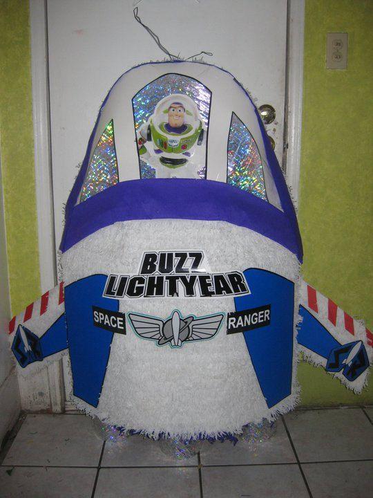 Buzz Lightyear Spaceship Pinata Cakes Party Ideas