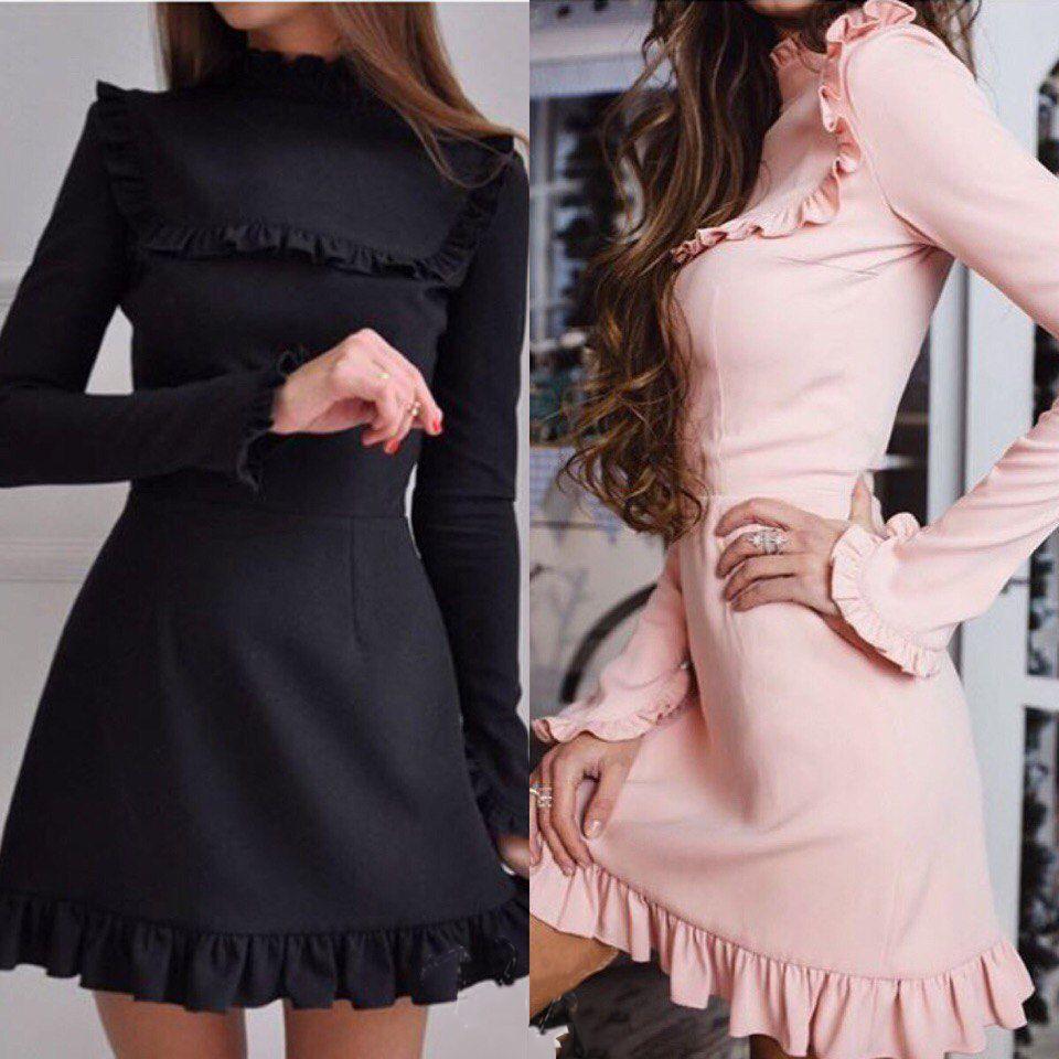 1b892185d8 Barato 2018 nova moda outono gola Babados manga longa vestido das mulheres  bainha vestidos casuais Túnica