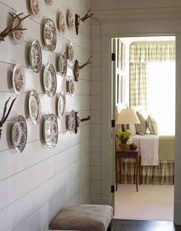 Door trim, walls