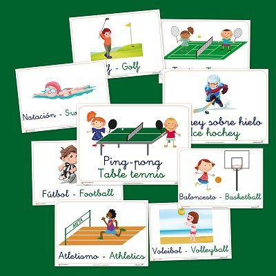 imagier vocabulaire sports