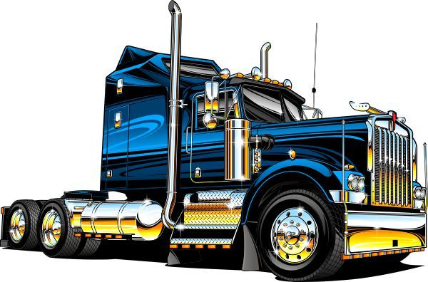 18++ Big rig clipart pictures information