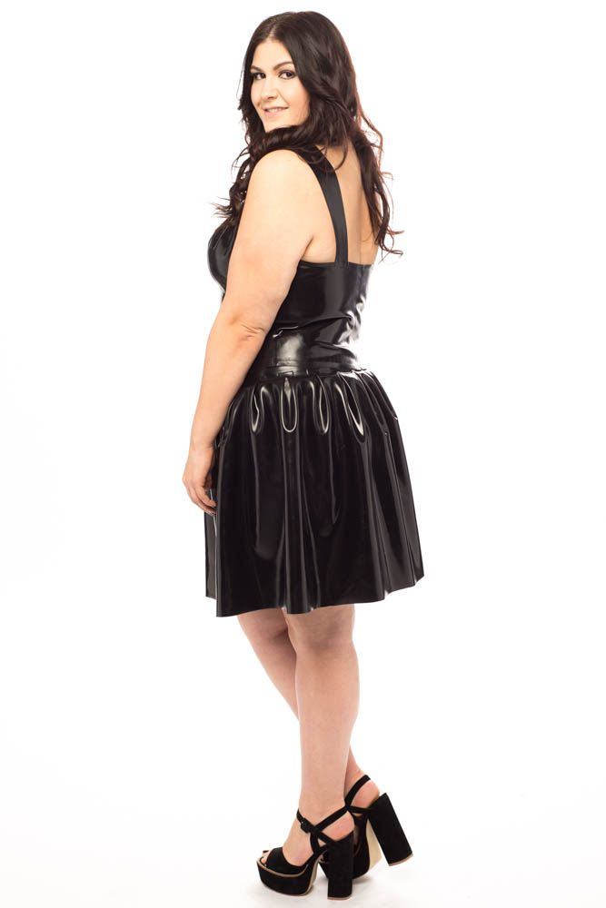 66fad83c795 Plus size latex skirt and bustier top