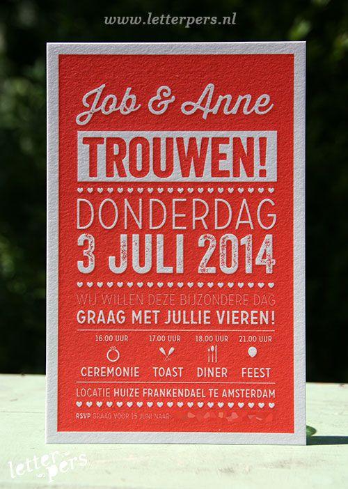 letterpers_letterpress_trouwkaart_Job_anne_rood_typgrafisch_hip