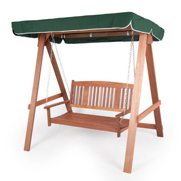 wooden patio 2 seater swing seat canopy luxury garden furniture outdoor seat - Garden Furniture Swing Seats