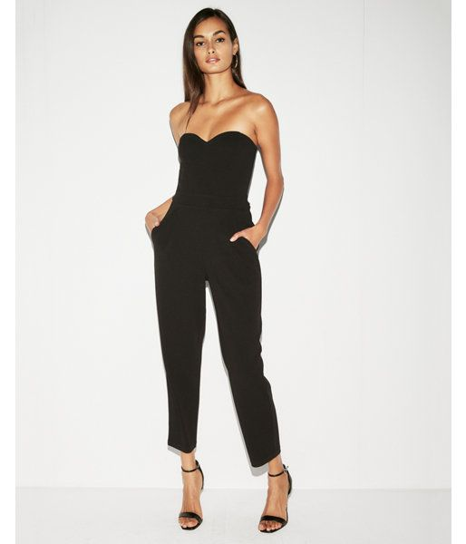 2196dbbe3baa5 Strapless Sweetheart Neckline Jumpsuit Black Women's 8 | Products in ...