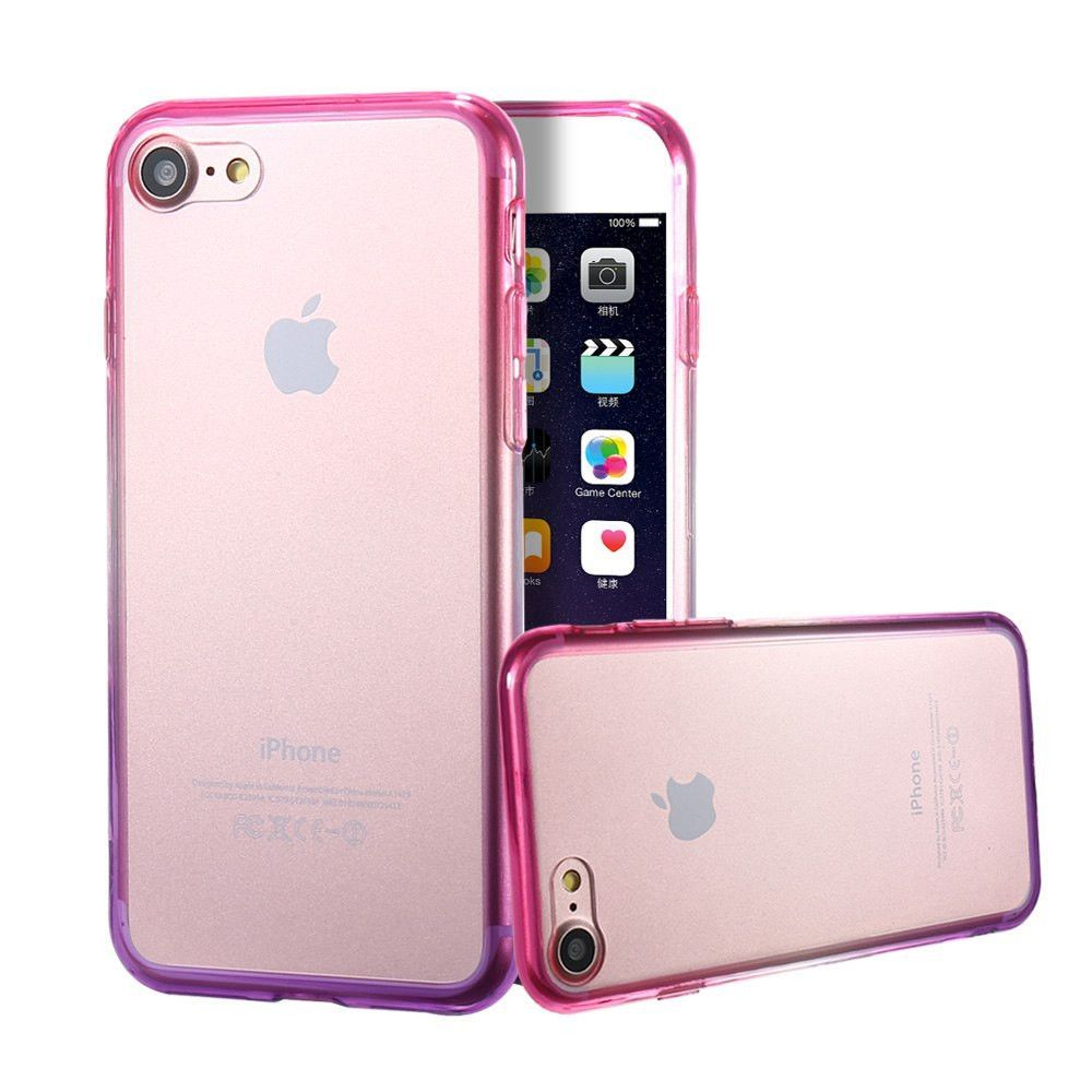 i7 Plus Phone Cases Gradient Color Silicone TPU Cover For Apple iPhone 7 7  Plus Case Acrylic Back Coque Luxury Housing Accessory a2f5820e8