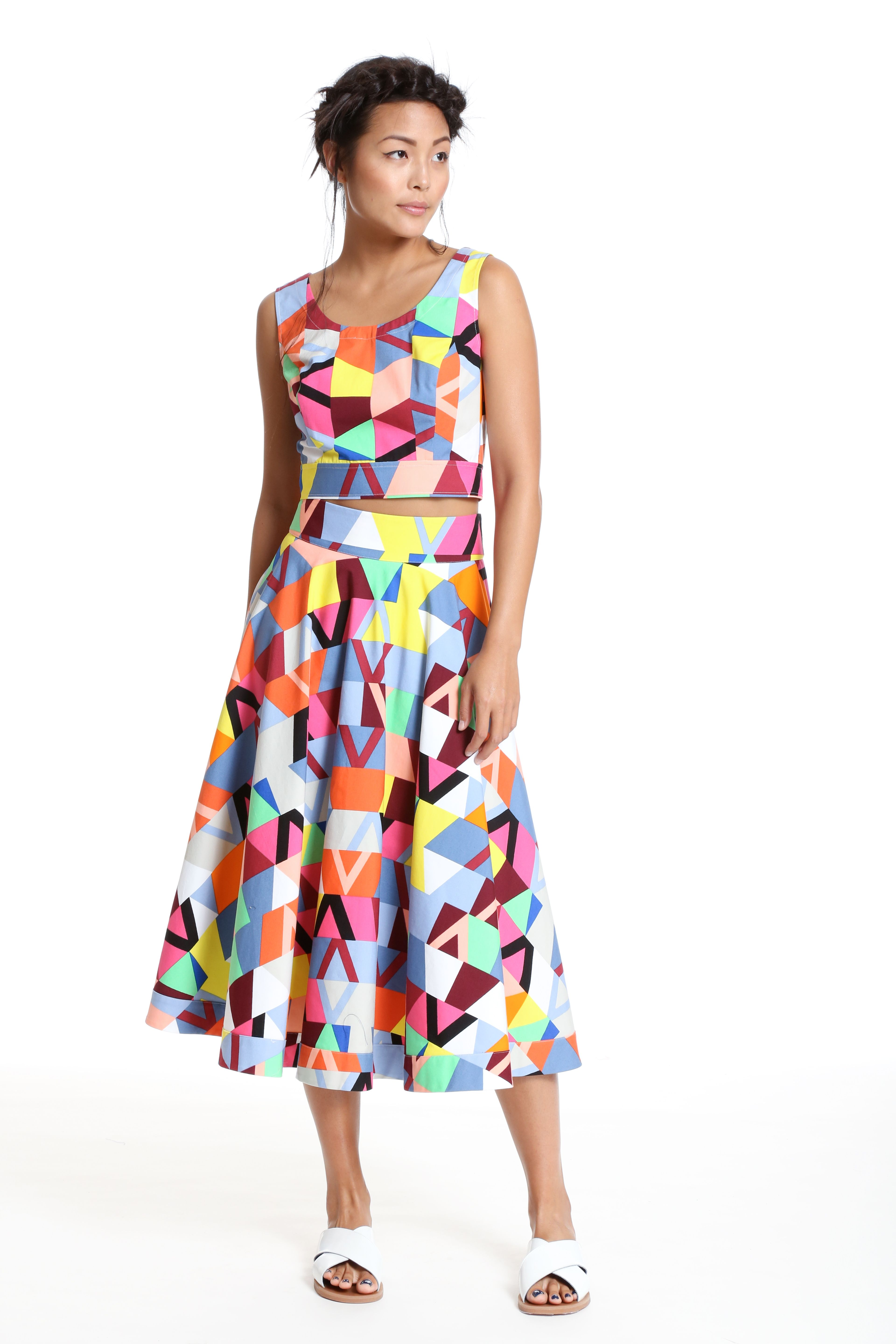 Can we talk about how much I love two-piece dresses?  Full Circle Skirt + Back-Tie Shell | Plenty by Tracy Reese