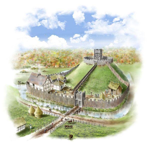 Motte And Bailey Castle By Steve Rigby Mittelalterliche Burg Festungen Burg