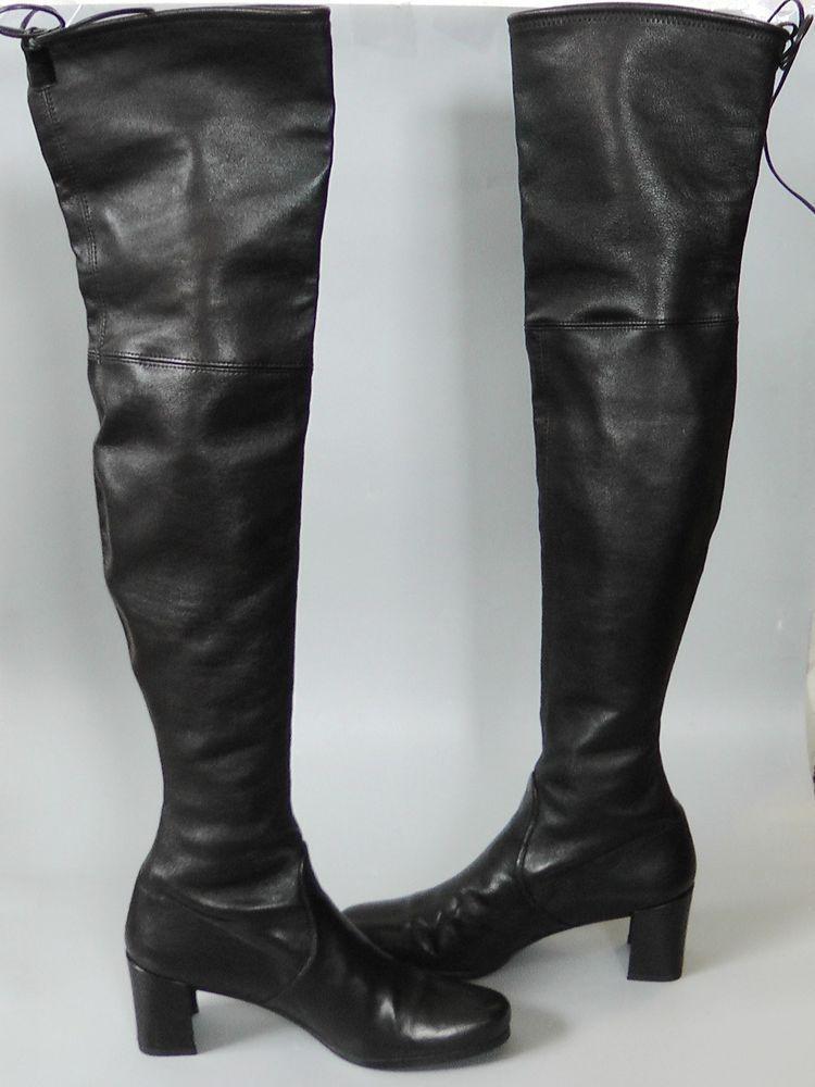 0c6c9938c7e 🍏51% OFF Stuart Weitzman Tieland Leather Over the Knee Boot Shoe ...