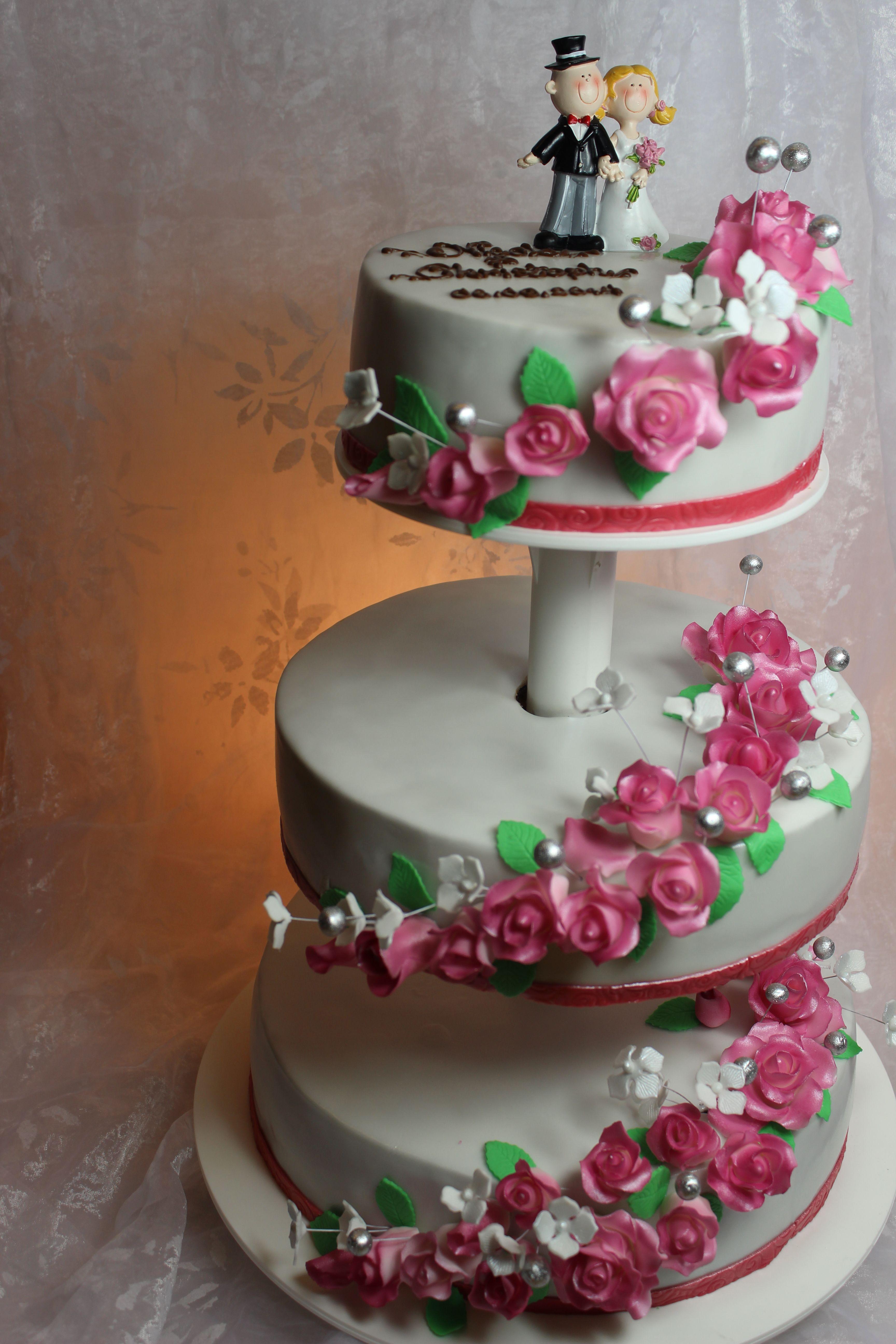 3 tier wedding cake 3 st ckige hochzeitstorte cakes. Black Bedroom Furniture Sets. Home Design Ideas
