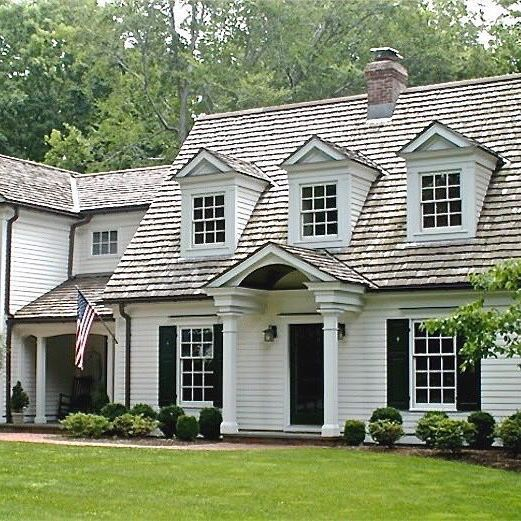 Loving This Black And White Cape Cod Style Home From