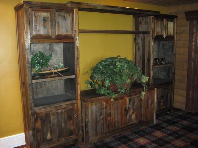 custom barnwood center - Rustic Center