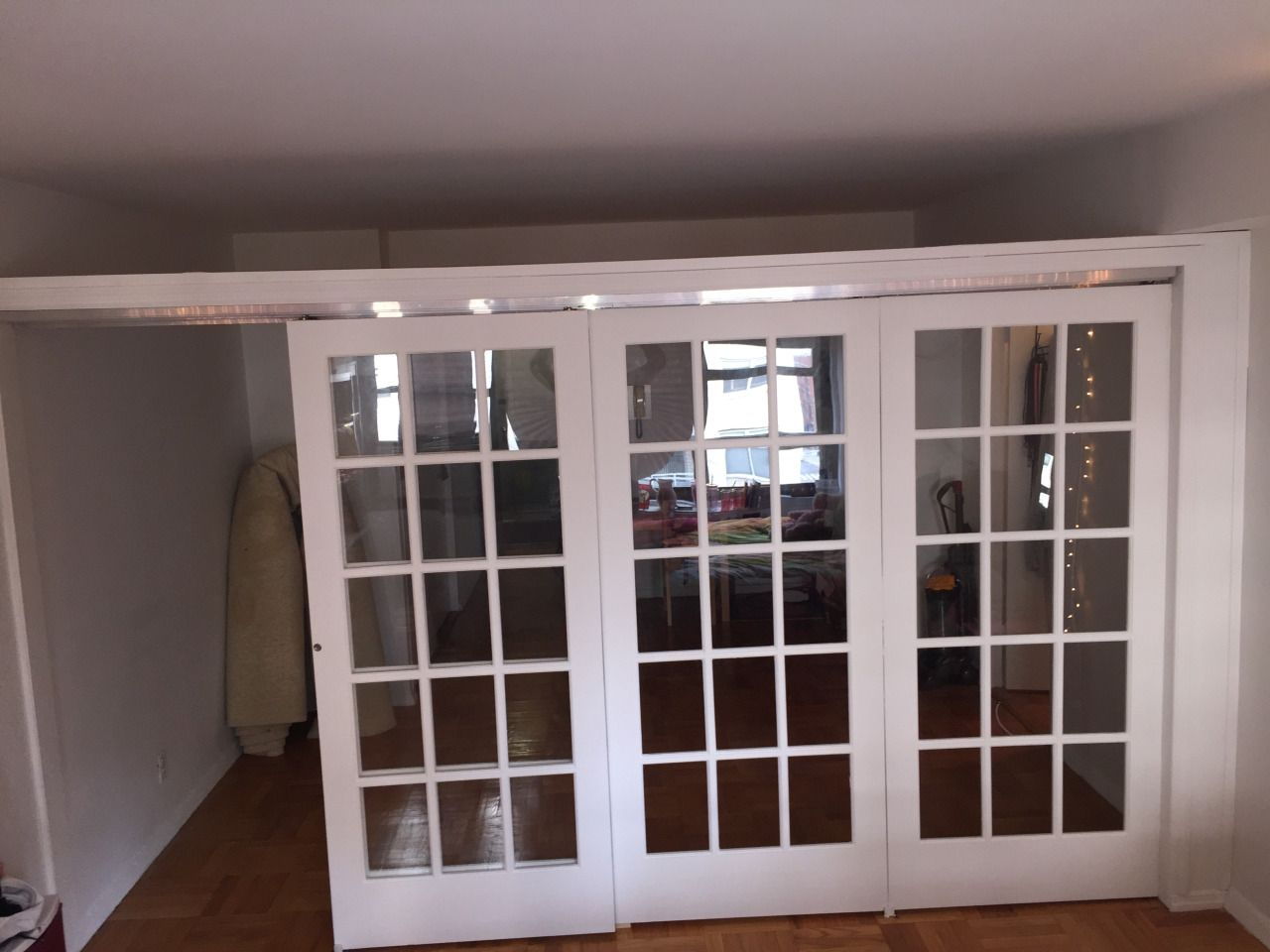 Sliding French Door Partitions Room Divider Walls Hanging Room