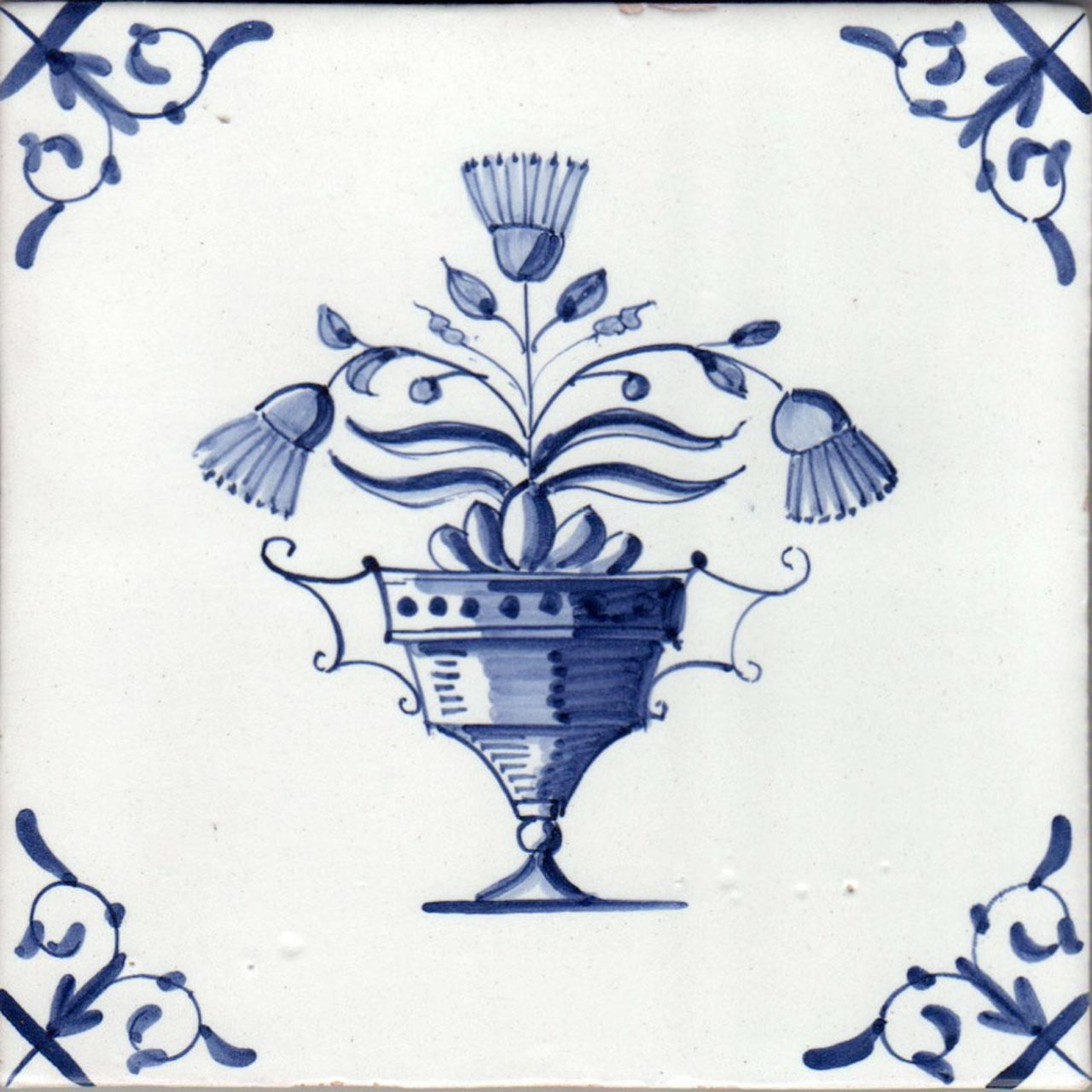 Image result for delft tiles vase of flowers Delft tiles