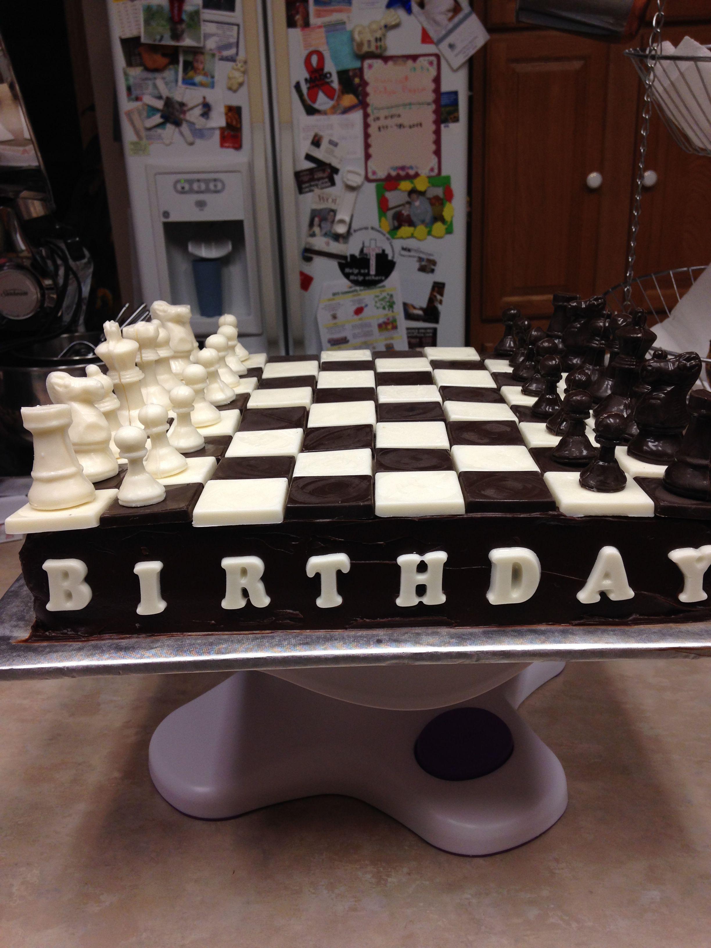 Marvelous Chess Birthday Cake Birthday Cake Boy Birthday Cake Funny Birthday Cards Online Overcheapnameinfo