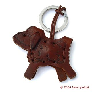 Cool Leather Keychains: PECORELLA - Sheep Italian Leather Key Chain