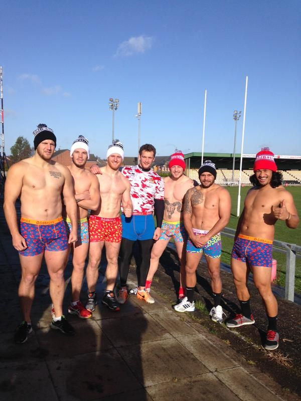 dcff3c8a6b Wigan Warriors in oddballs - helping raise money and awareness for  testicular cancer