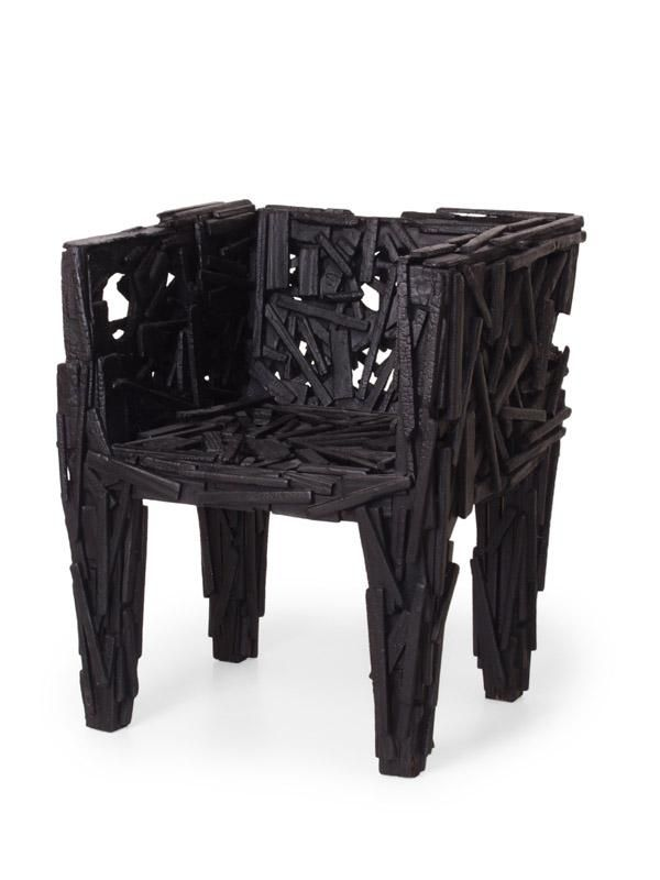 Smoke Wood Furniture ~ Burned wood inspiration smoke collection by martin baas
