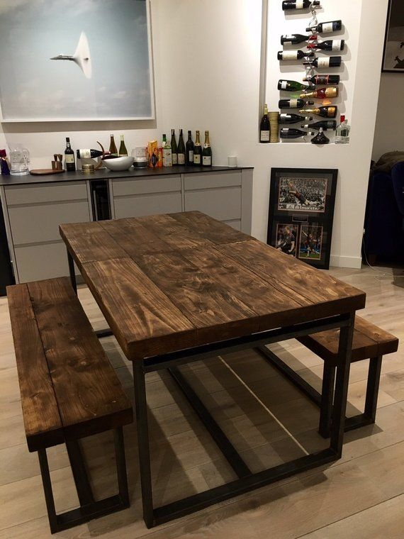 Reclaimed Industrial Chic 6-10 Seater Extending Dining ...