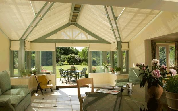 beautiful garden and conservatory