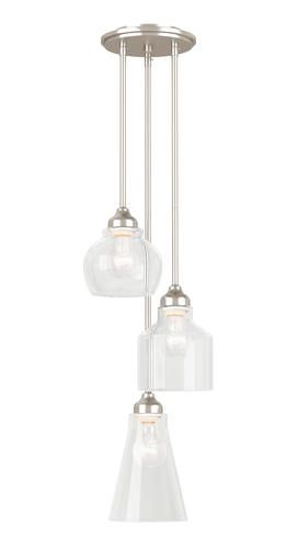 Misty 3 Light Cluster Pendant In Brushed Nickel At Menards Misty 3 Light Cluster Pendant Cluster Pendant Lighting Glass Pendant Light Pendant Light Fixtures