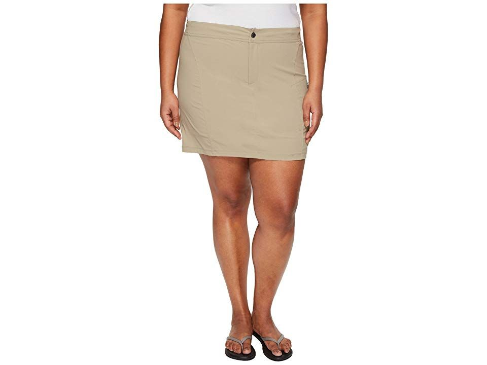 Columbia Plus Size Just Right Skort Tusk Womens Skort The Just Right Skort is known for being comfy allowing active motion and feeling just right Regular Fit is an easy l...
