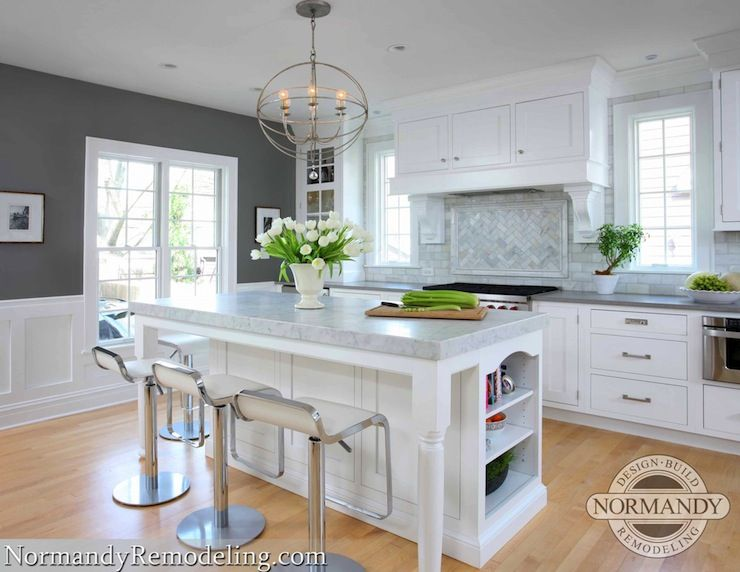 Normandy Remodeling Gorgeous Kitchen With Charcoal Gray Paint Color And Glossy White Trim Painted Benjamin