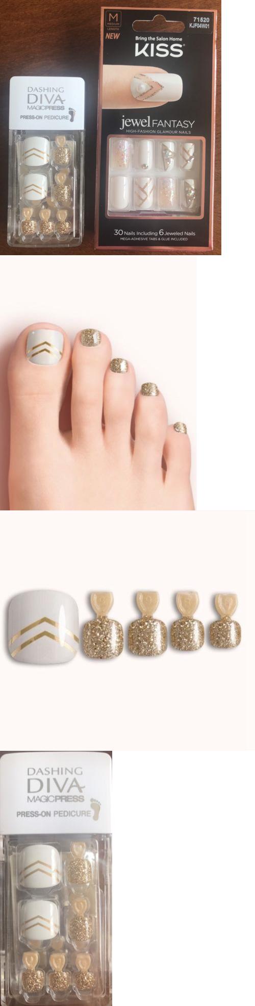 Press-On Nails: Kiss Jewel Fantasy Finger Nails And Dashing Diva ...