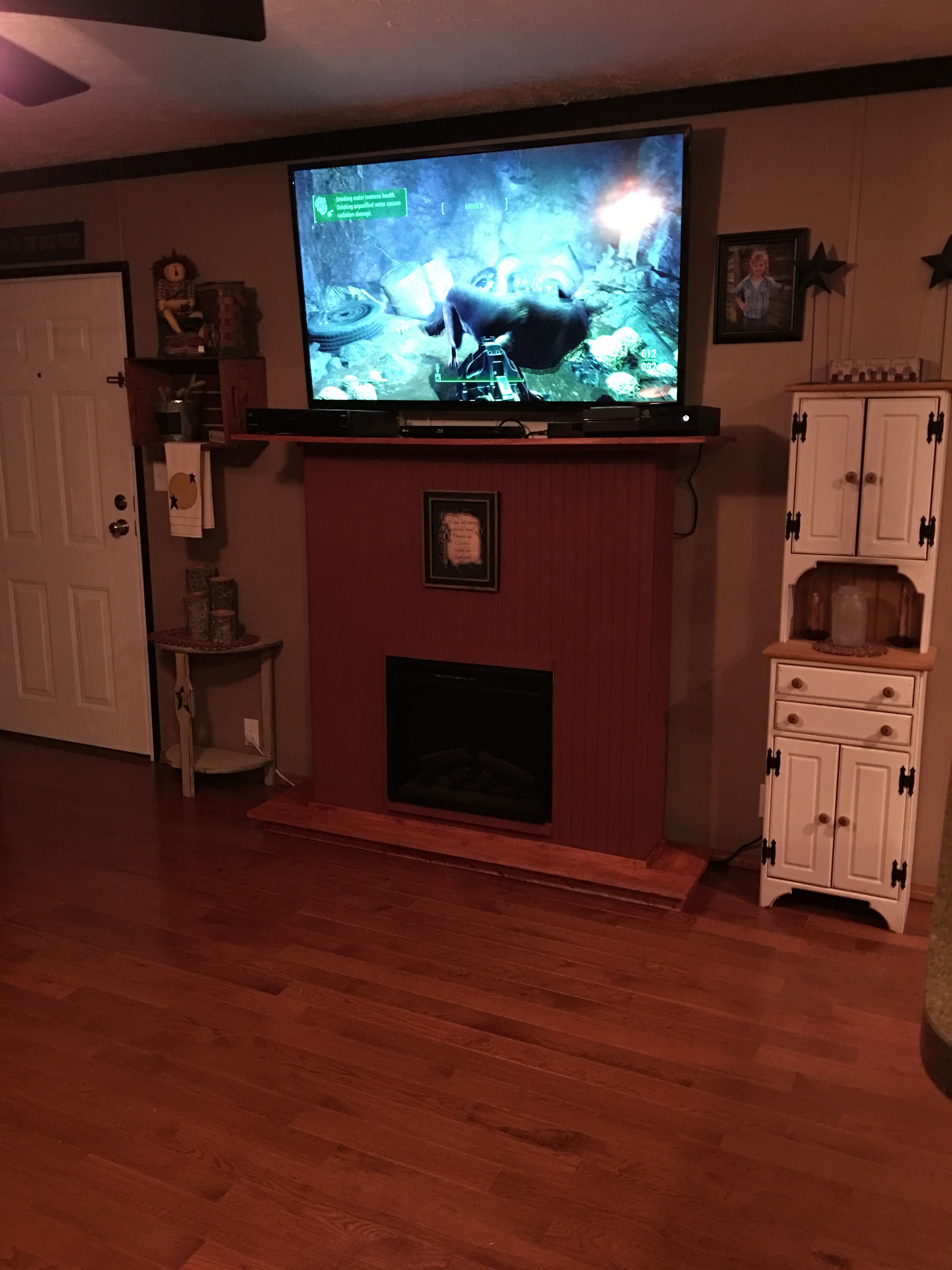 This is a fireplace that I made myself