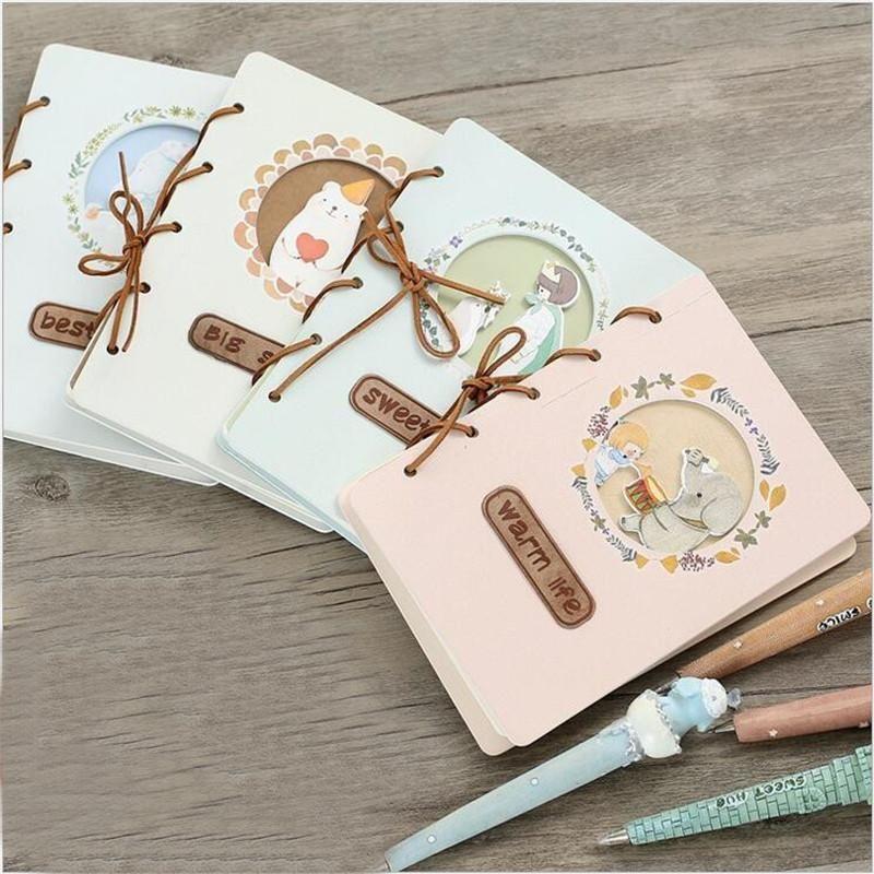 Diy Cute Cartoon Kawaii Anime Notebook Lovely Girl Writing Pad