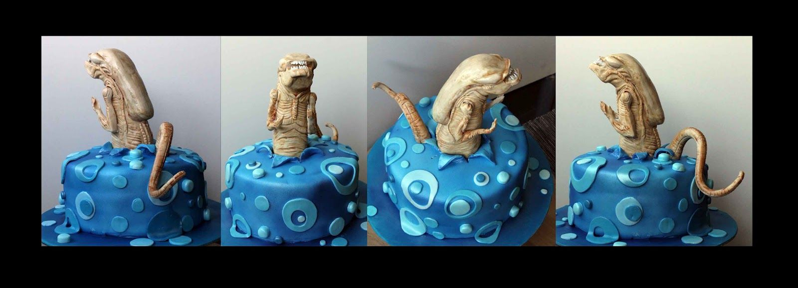 Chestburster cake  - Tarta Alien