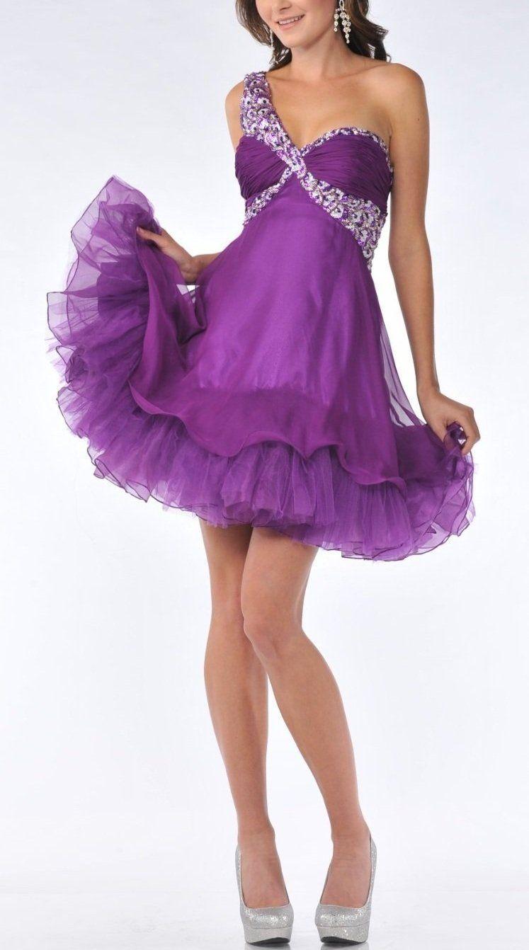 One shoulder homecoming dressshort homecoming dresstulle
