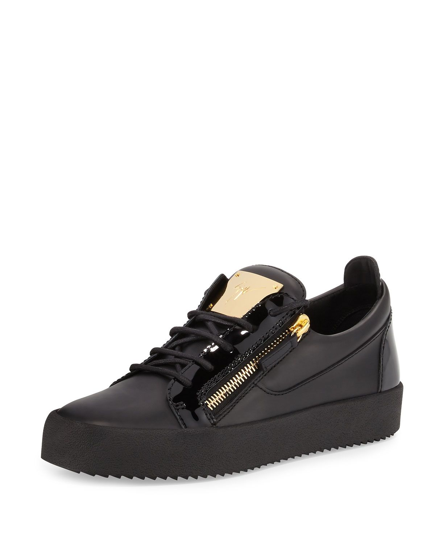43b6ea3e702 Men's Leather Low-Top Sneaker Black in 2019 | *Apparel & Accessories ...
