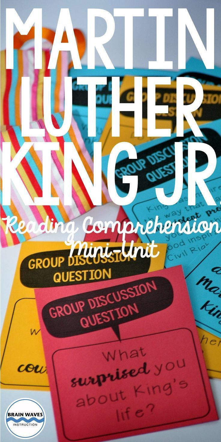 Martin Luther King Reading Comprehension Activities Nonfiction