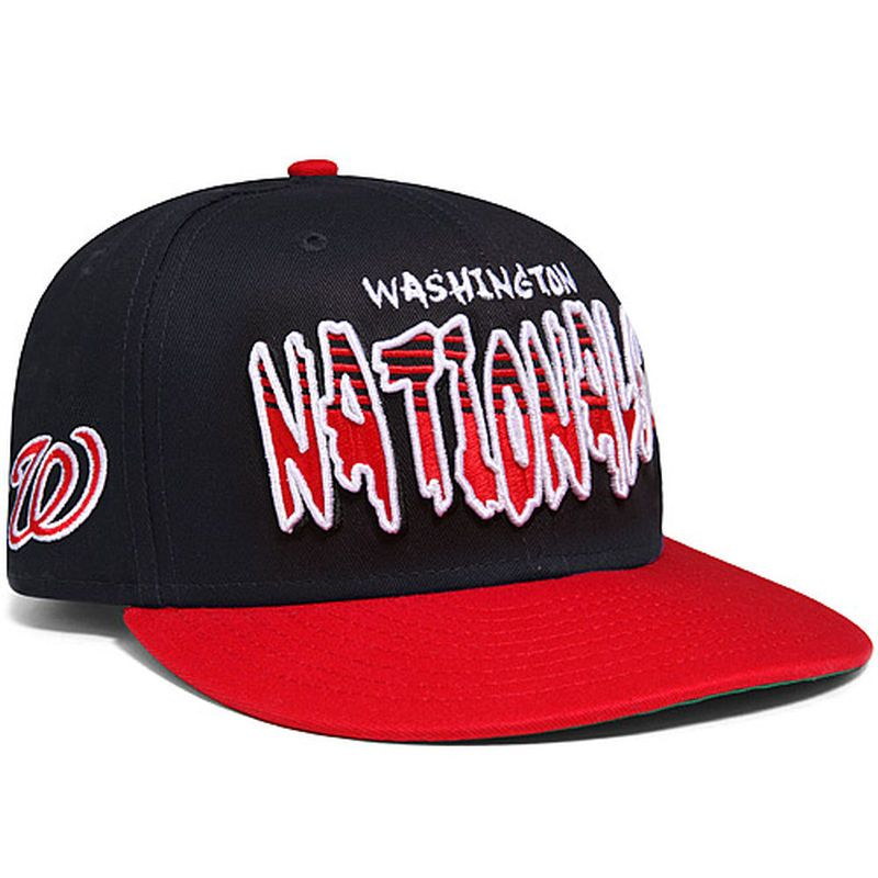 67ed9b65 Washington Nationals New Era Youth Line Fill 9FIFTY Adjustable Hat ...